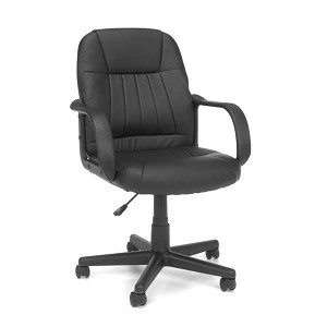 OFM Essentials Series E1007 Black Vinyl Executive Conference Chair