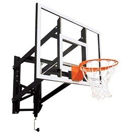 "Goalsetter Wall-Mount Basketball Hoop Adjustable GS48 48"" Glass Goal"