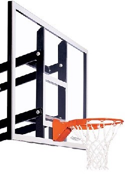 "Goalsetter Wall-Mount Basketball Hoop GS48 Zero Clearance 48"" Glass"