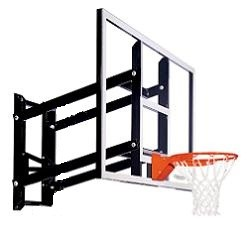 "Goalsetter Wall-Mount Fixed-Height Basketball Hoop GS54 54"" Glass Goal"