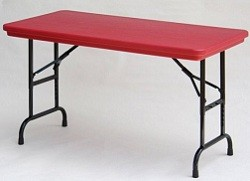 "Correll Adjustable-Height Folding Table RA2448-C Color 24"" x 48"" Top"