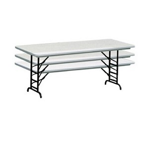 Correll Adjustable-Height Folding Table RA2448 24 in. x 48 in. Top