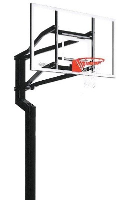 "Goalsetter In-Ground Basketball Fixed-Height All-American 60"" Acrylic"
