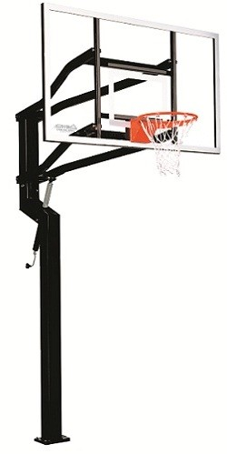 Goalsetter In-Ground Basketball Systems External MVP 72 in. Glass Goal