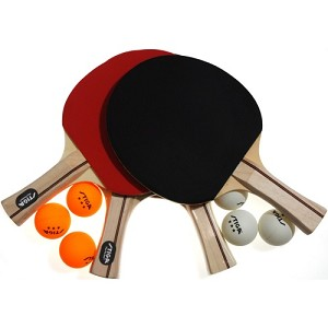 Stiga T1364 Performance 4-Player Table Tennis Paddle and Ball Set