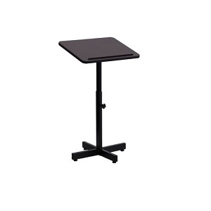 Flash Furniture School Adjustable Height Metal Mahogany Lectern