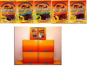 Case Load 30 Pack 3.5 Oz Beef Jerky Bags W/ Display Box