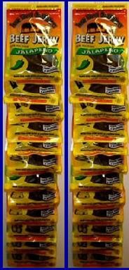SO 24 Pack 7 Oz Clip Strip Case Beef Jerky Bags