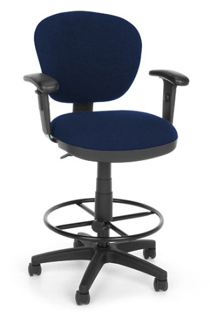 OFM Office Chairs 150-Aa-Dk Computer Task Chair- Arms and Drafting Kit