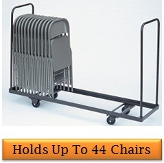 Correll Chair Cart - 20x120 inch Standing Folding Chair Storage Cart