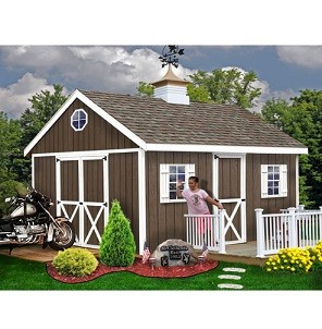 Easton 12x16 ft Ezup Best Barns Wood Shed Barn Kit