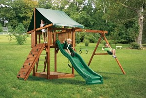 Playset - PG02W Oasis Package Two Swing Set Playground