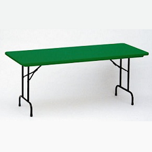 Correll Folding Tables R3072-C Color Blow-Molded Table Tops 30 x 72