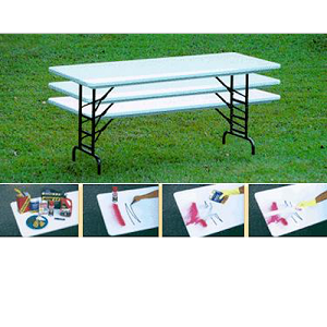 Correll Ra3072s Preschool Height 30X72 Adjustable Height Folding Table