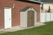SO Lifetime 6427 8 X 2.5 ft Tool & Garden Outdoor Storage Shed