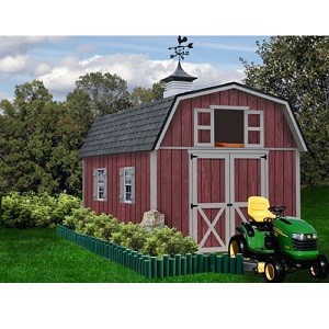 Woodville 10x16 ft Best Barns Wood Shed Barn Kit
