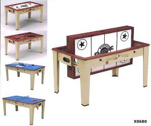 SO Classic Sport X0680 8 in 1 - Combo 222 Swivel Game Table
