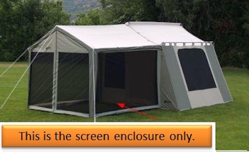 buy online 7f999 9a4cd Kodiak Canvas 0631 Tent Screen Enclosure for 6133 Deluxe Awning Tent