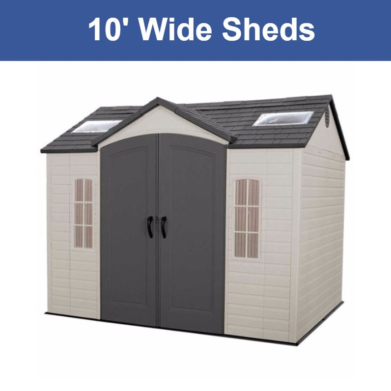 10 ft. Wide Storage Sheds