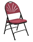4-Pack 1100 Series NPS Ergonomic Fan Back Plastic Folding Chair