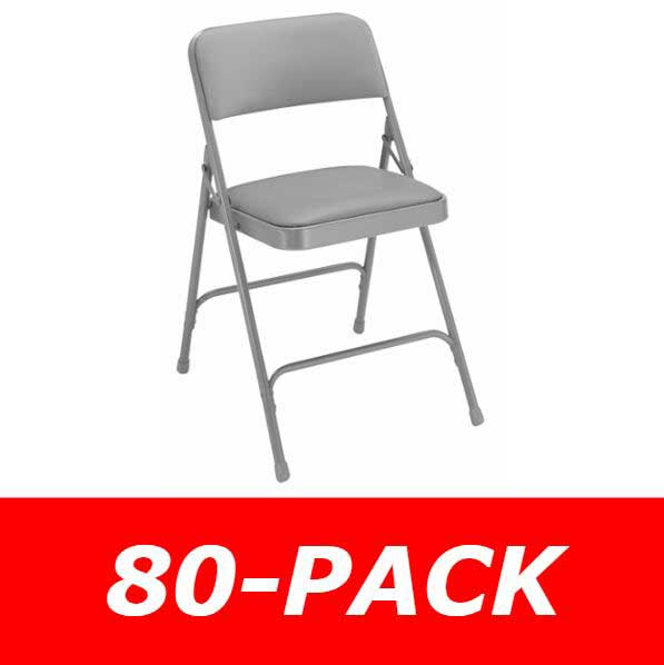 80-Pack 1200/1300 Series Vinyl NPS Padded Folding Chairs