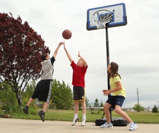 Portable And Adjustable 44 Basketball Goal Sale Today Ships Fast