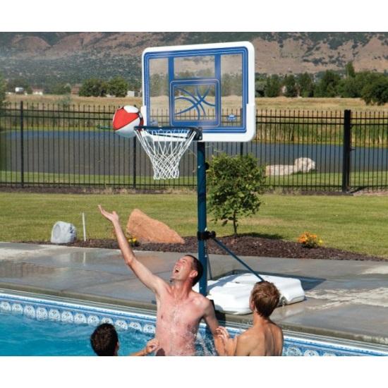 Lifetime poolside basketball hoop 1306 acrylic backboard - Basketball goal for swimming pool ...