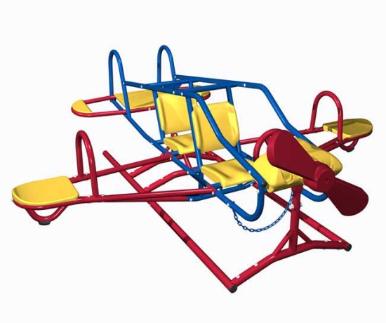 Lifetime Playground Equipment Airplane Teeter Totter - Ace Flyer 151110 Double Play Gym