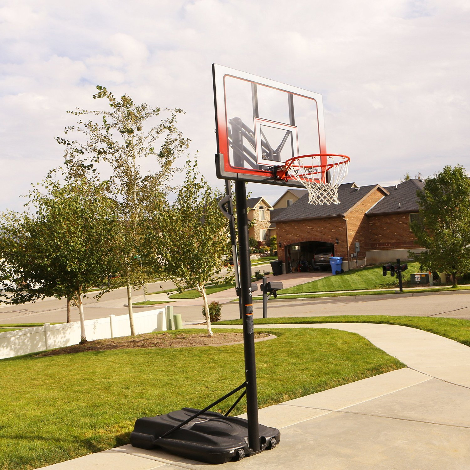 Atlas Portable Basketball System 1558 52 Inch Backboard