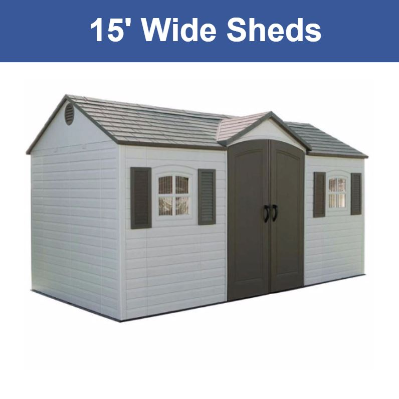 15 ft. Wide Storage Sheds