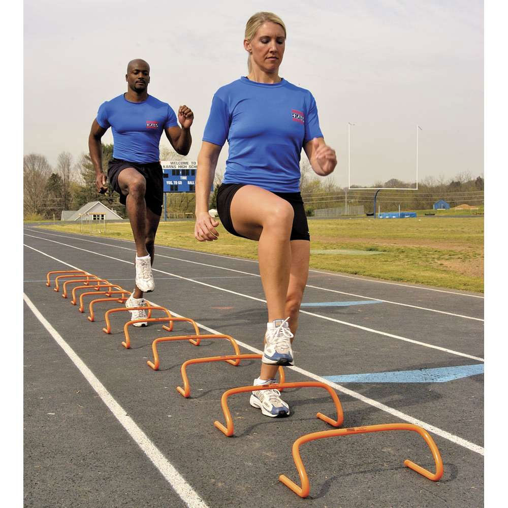 New Athletic Exercise Training Step Hurdle 18 In Equipment Nr