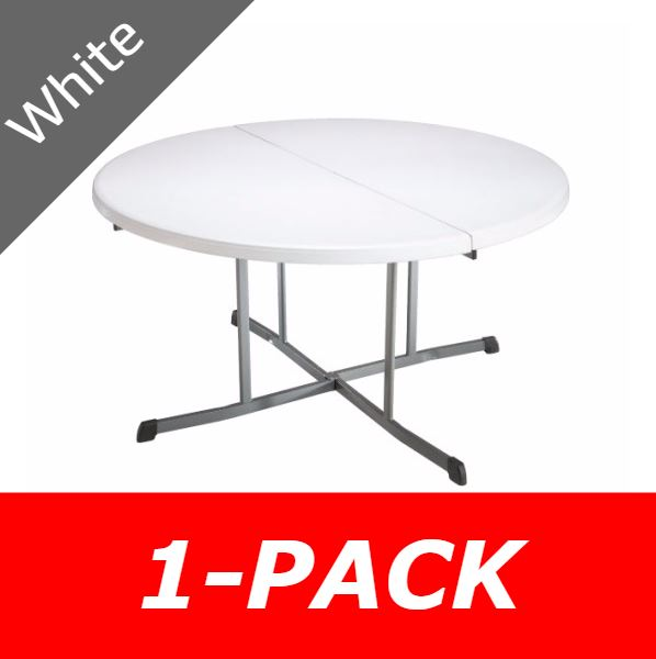 Lifetime Fold In Half Folding Table, Fold In Half Round Table