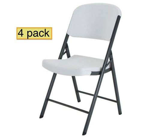 Outstanding Lifetime Folding Chairs 42804 4 Pack In White Granite Color Uwap Interior Chair Design Uwaporg
