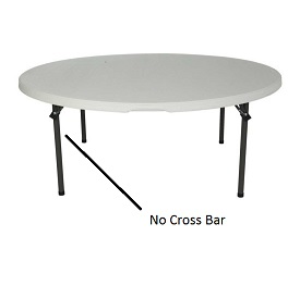 shows table with crossbar