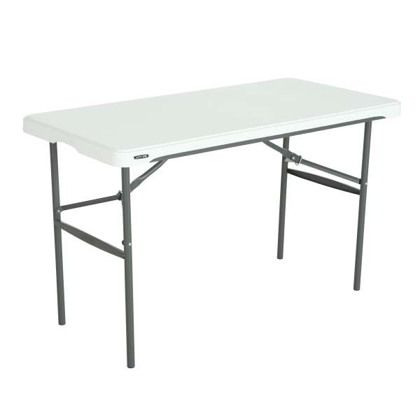 4 Ft Commercial Nesting Lifetime Plastic Table 1 Pack 280478 White Granite
