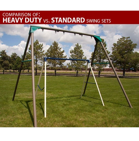 Heavy-Duty Commercial Quality Swing Set - Sale Today - Free Shipping