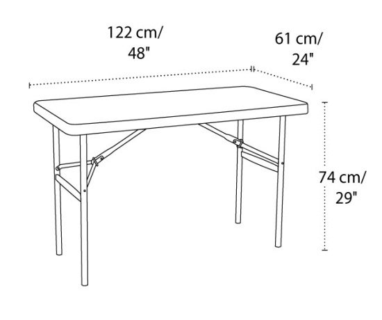 Lifetime 22950 4 Ft Folding Lifetime Table On Sale With