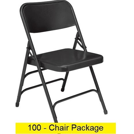 Superb Premium Metal Folding Chairs Act Mc309As 100 Pack Ibusinesslaw Wood Chair Design Ideas Ibusinesslaworg