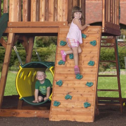 Backyard Discovery Cedar View Swing Set backyard discovery 30013com cedar view wooden playground play set