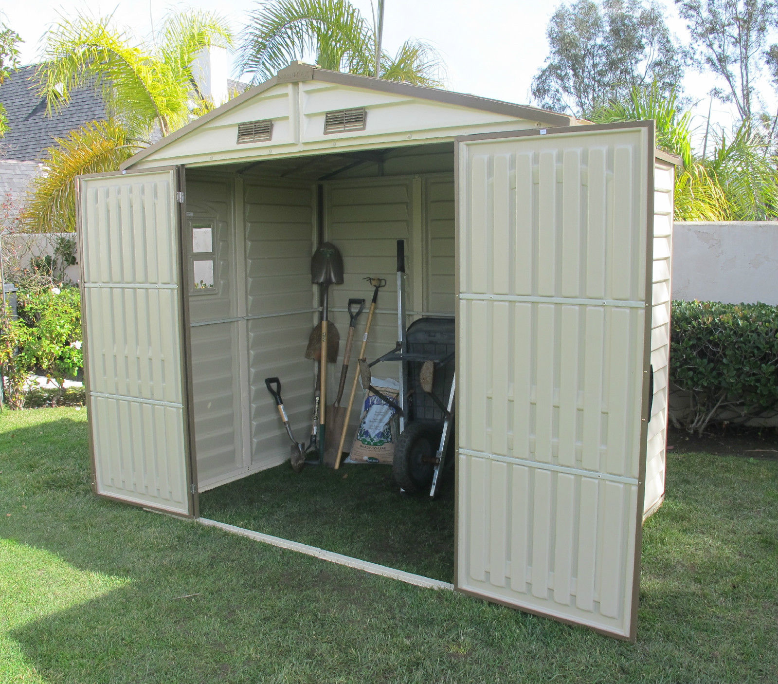 Duramax 8x6 94x63 Store All Vinyl Shed 30111