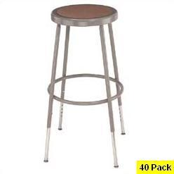 40 Adjustable Height Lab Stools NPS National Public Seating 6218h