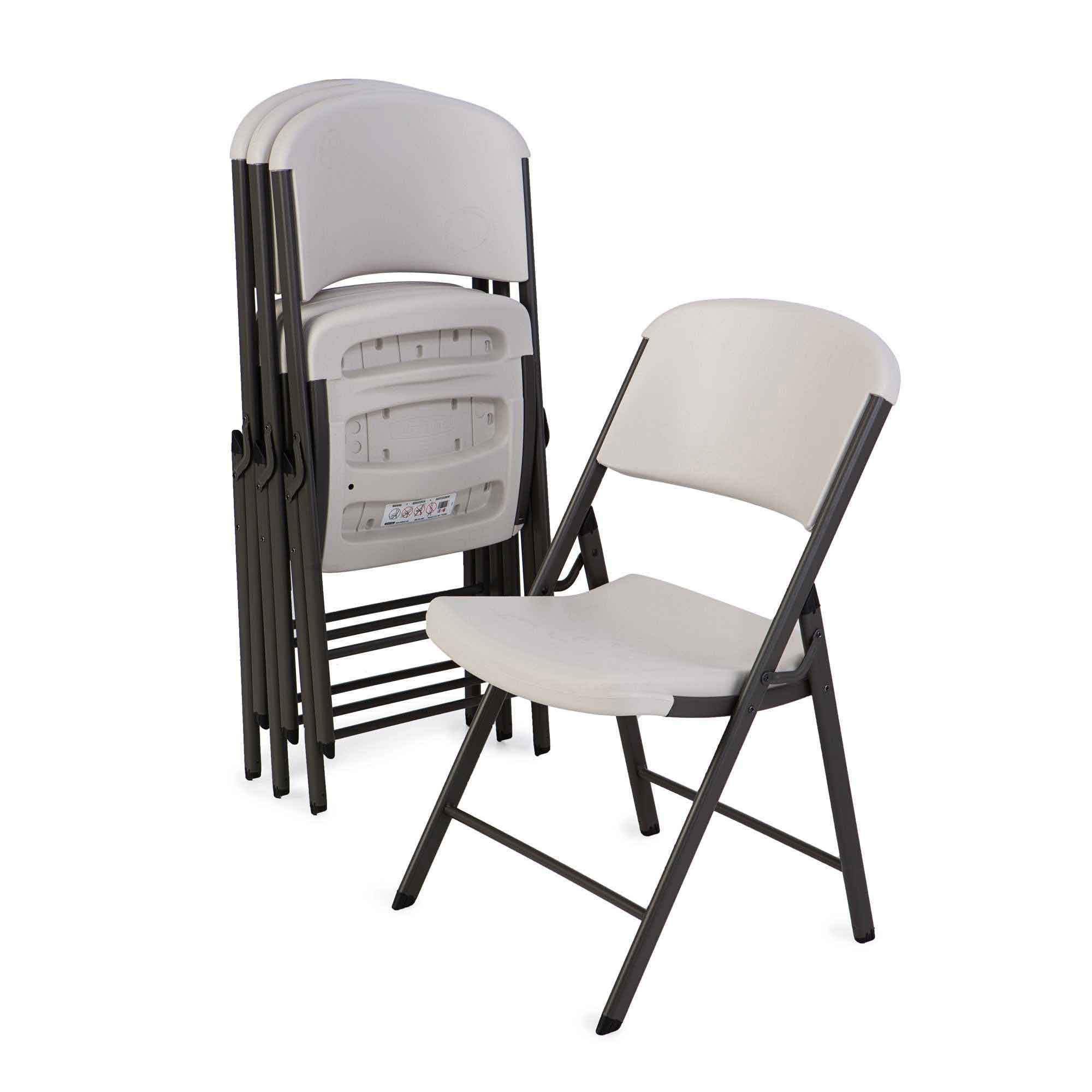 Lifetime 42803 Almond Folding Chair On Sale With Fast