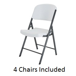 Lifetime 42804 White Granite Chairs 4 Pack On Sale Today