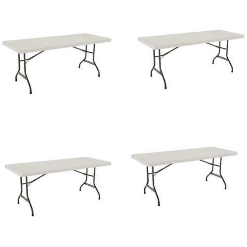 New 2900 4 Pack Lifetime 6 Polyethylene Folding Table