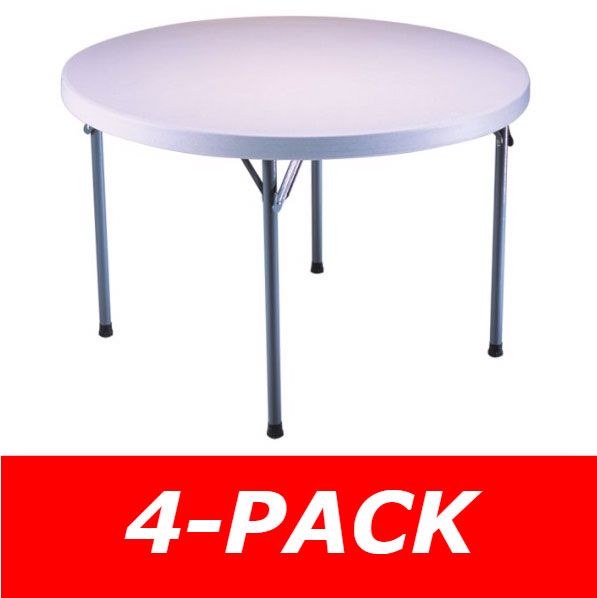 Lifetime Round Tables 42960 46 in. White Granite Top - 4 Pack