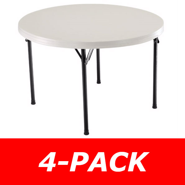 46 Inch Round Table.Lifetime Round Tables 46 Inch Almond Folding Tables 42968 4 Pack