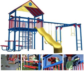 Swing Sets Commercial Grade Metal Playground Playset