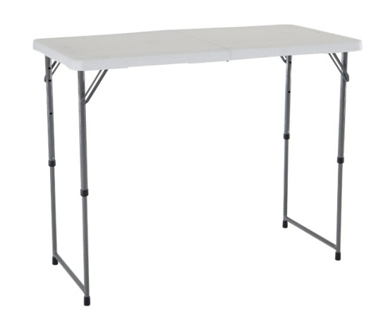 Lifetime adjustable height folding table 4428 48x24 fold for Table pliante walmart