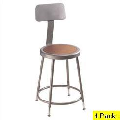 4 Adjustable Height Backrest Lab Stools 6224hb National Public Seating
