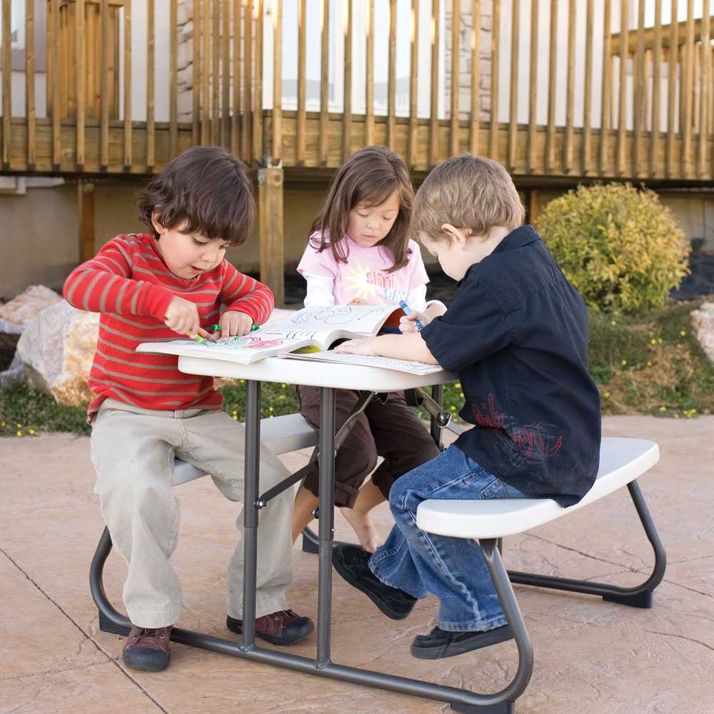 Magnificent Lifetime Kids Picnic Table 480094 Folding Picnic Tables 4 Pack Download Free Architecture Designs Scobabritishbridgeorg